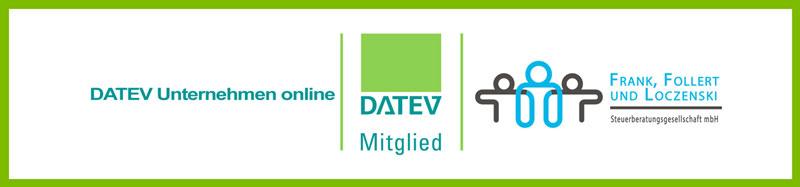 Klick Sie auf den Banner um sich bei DATEV mit Ihren Zugangsdaten anzumelden.